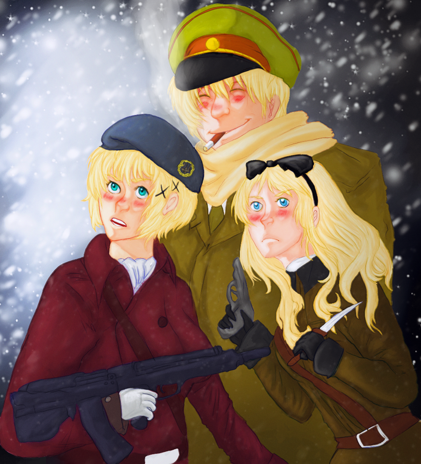 the three slav siblings by rihitenstein