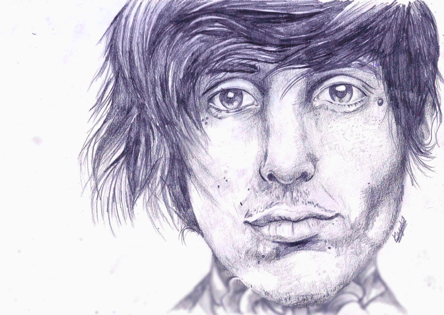 Oli Sykes Pencil Sketch by Seven-dirty-words
