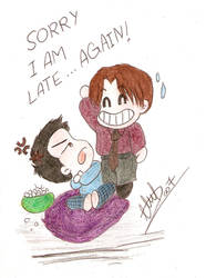 late again ::colored:: by some-bored-girl