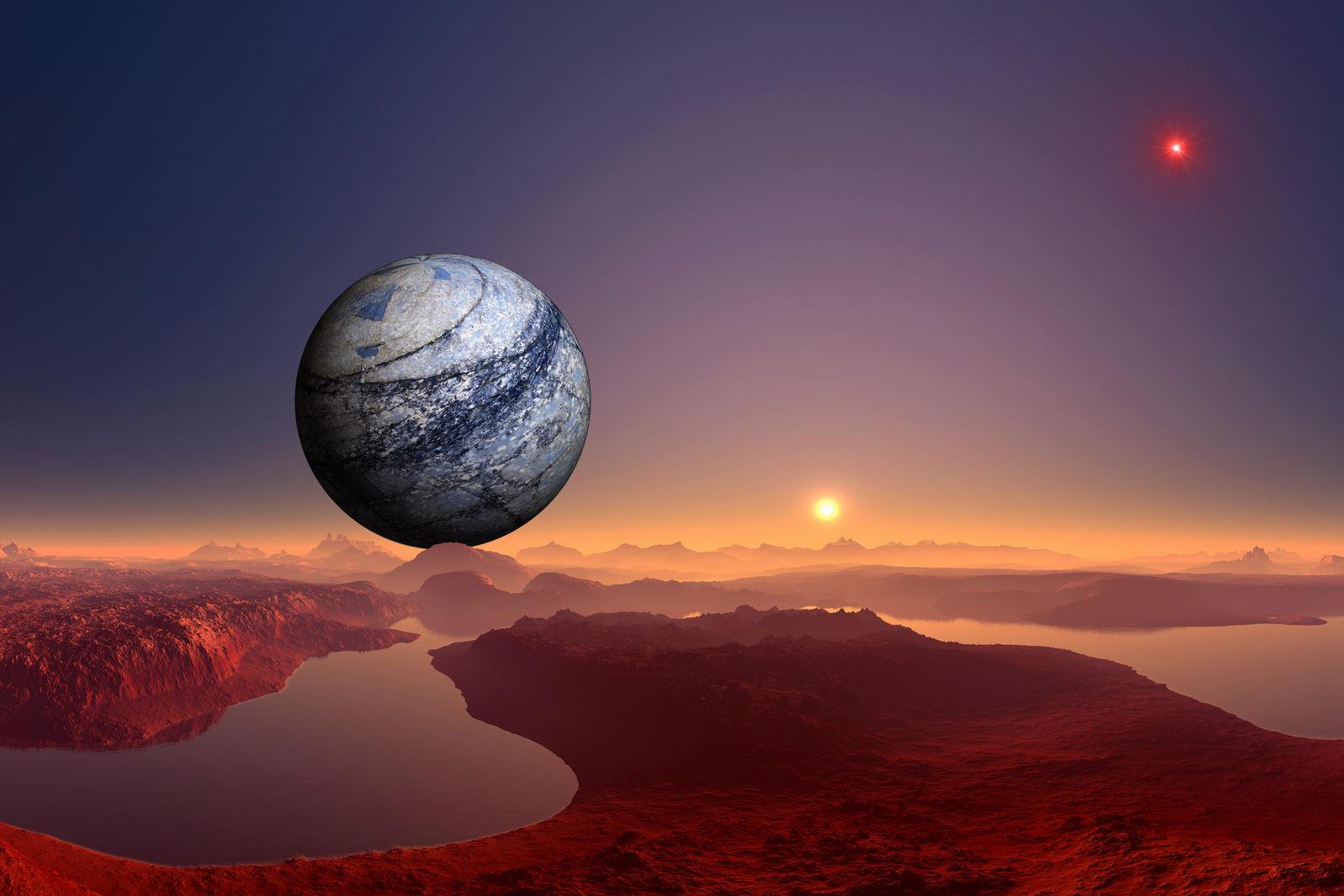 El planeta silencioso y la estrella roja