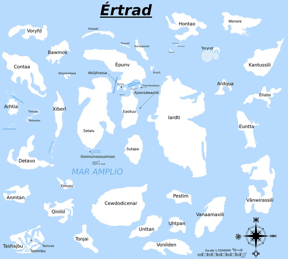 Mapa de Ertrad (completo) by Jakeukalane