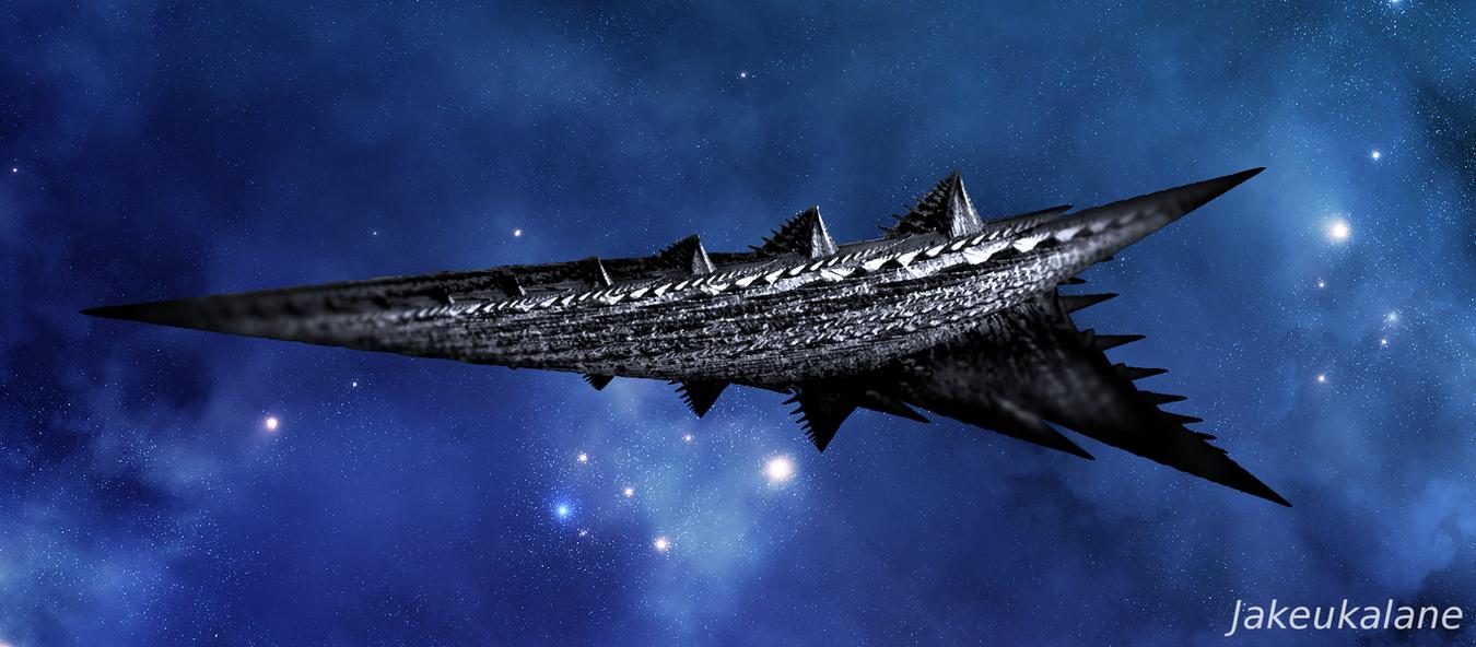 Nave espacial dussiana by Jakeukalane