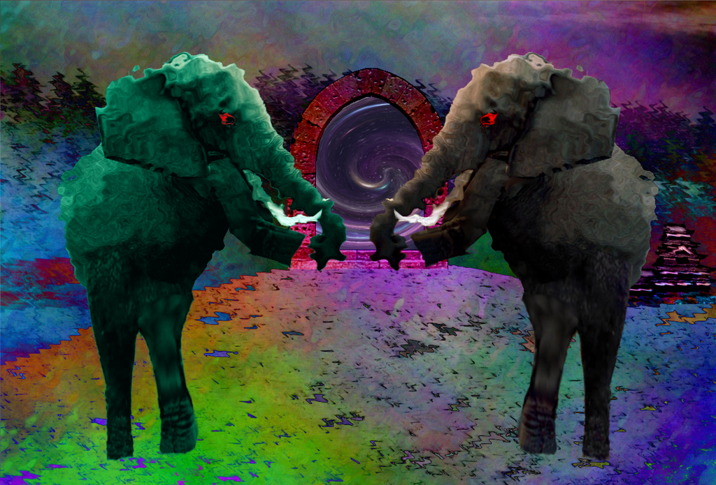 The Ancient Mystic Elephants I by Jakeukalane