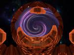 Nave-nodriza abriendo su portal interplanar