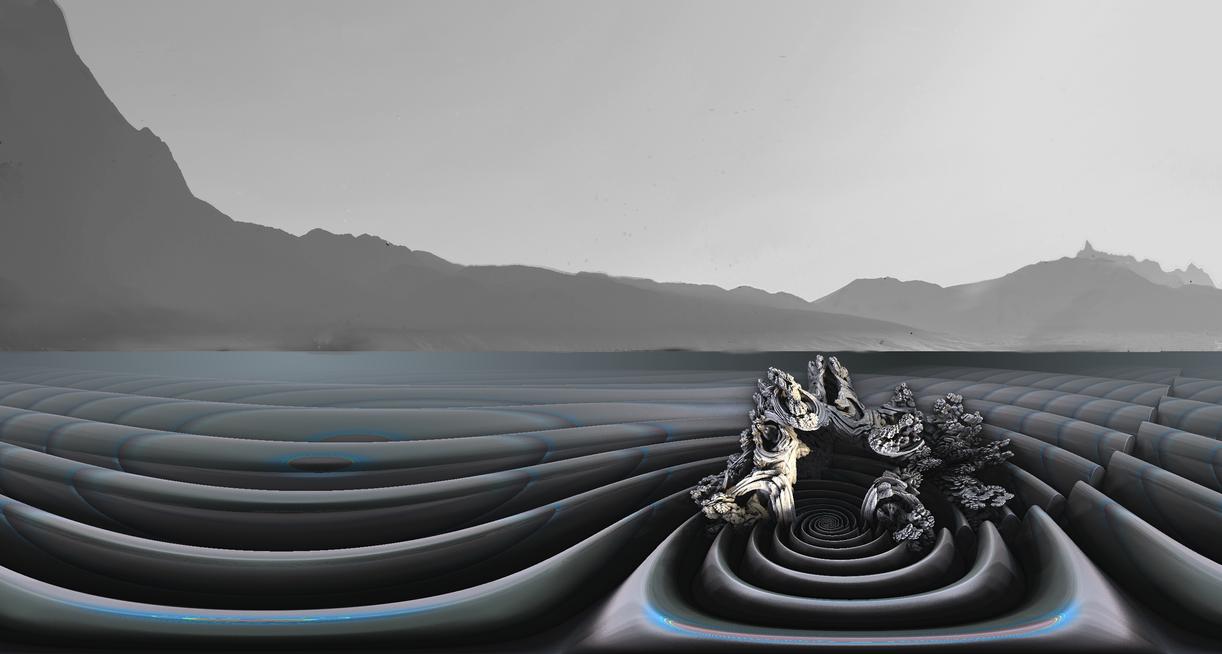 Arrecifes fractales en la costa de Wiliya por Jakeukalane