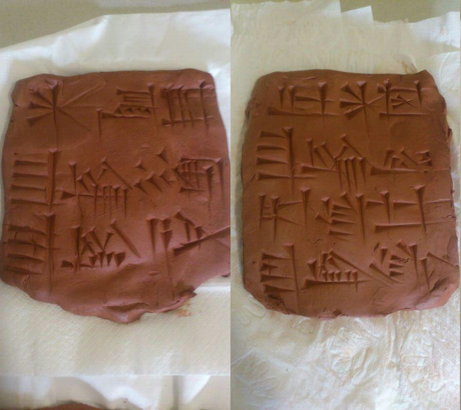 Ur-Nammu cone in clay tablets