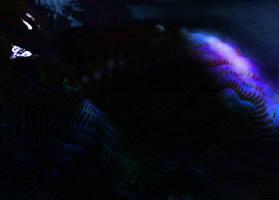Fractal dinosaur chasing a spaceship by Jakeukalane