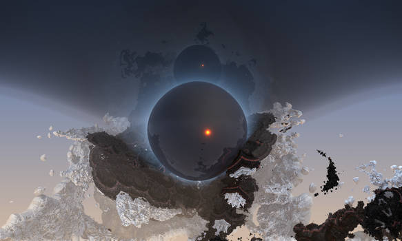 Mysterious sphere in space
