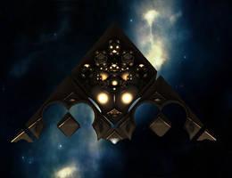 A Dussian ultraship in space II by Jakeukalane