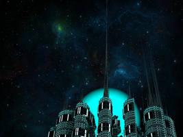 Space Bastion by Jakeukalane