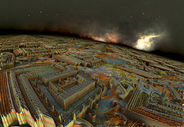 Fractal Pergamo City by Jakeukalane
