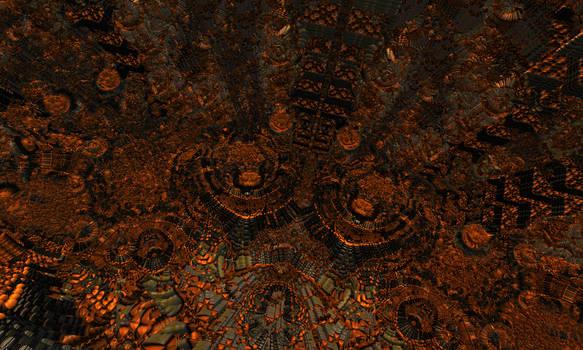 Bronze Gates of the Fractal Underworld by Jakeukalane