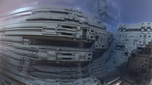 Hangar XXVI at the Tarun Spaceport by Jakeukalane