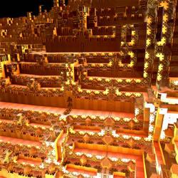 The Fractal City's Ziqqurat by Jakeukalane