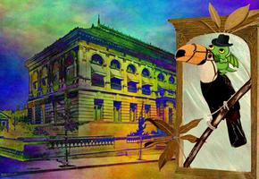 Cthulhu leaves fiction by Jakeukalane