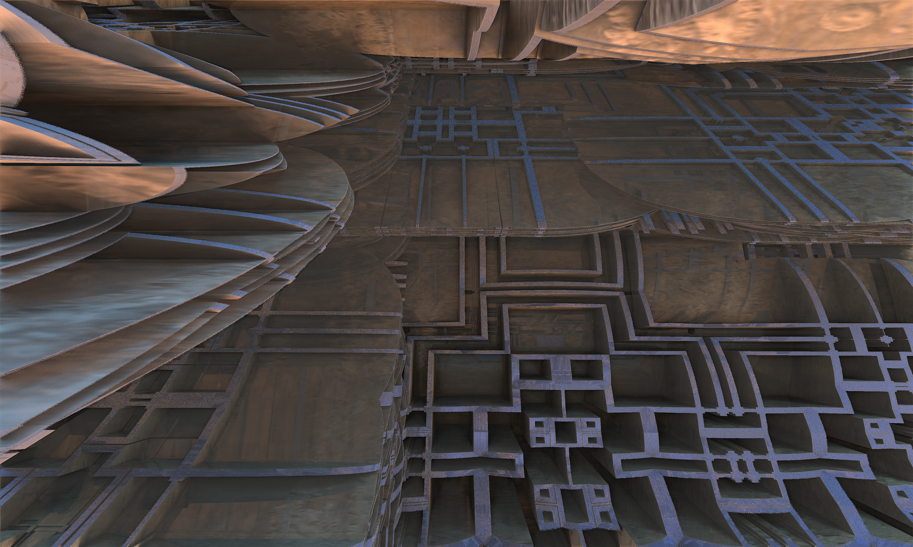 Labyrinth in the Fractal City by Jakeukalane