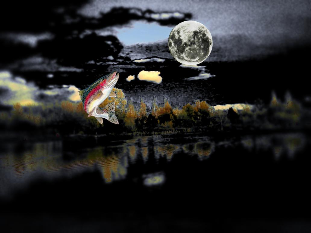 La trucha y la medialuna by Jakeukalane