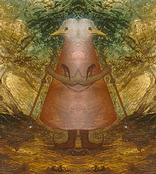 The goddess of the birds by Jakeukalane