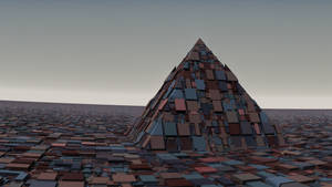 A lonely pyramid