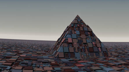 A lonely pyramid by Jakeukalane