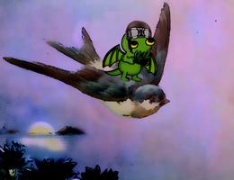 Cthulhu bird propelled