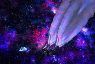 Nave espacial bji convertida en unos prismaticos