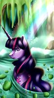Twilight waterfall