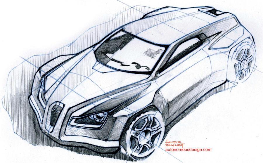 Car Sketch by AutonomousDesign