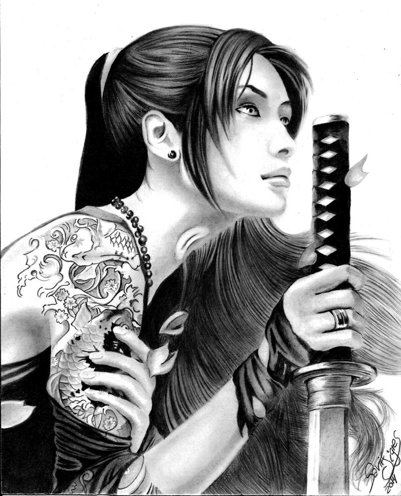 Japanese Tattoo Wallpaper: Samurai Girl By SavirOigres On DeviantArt