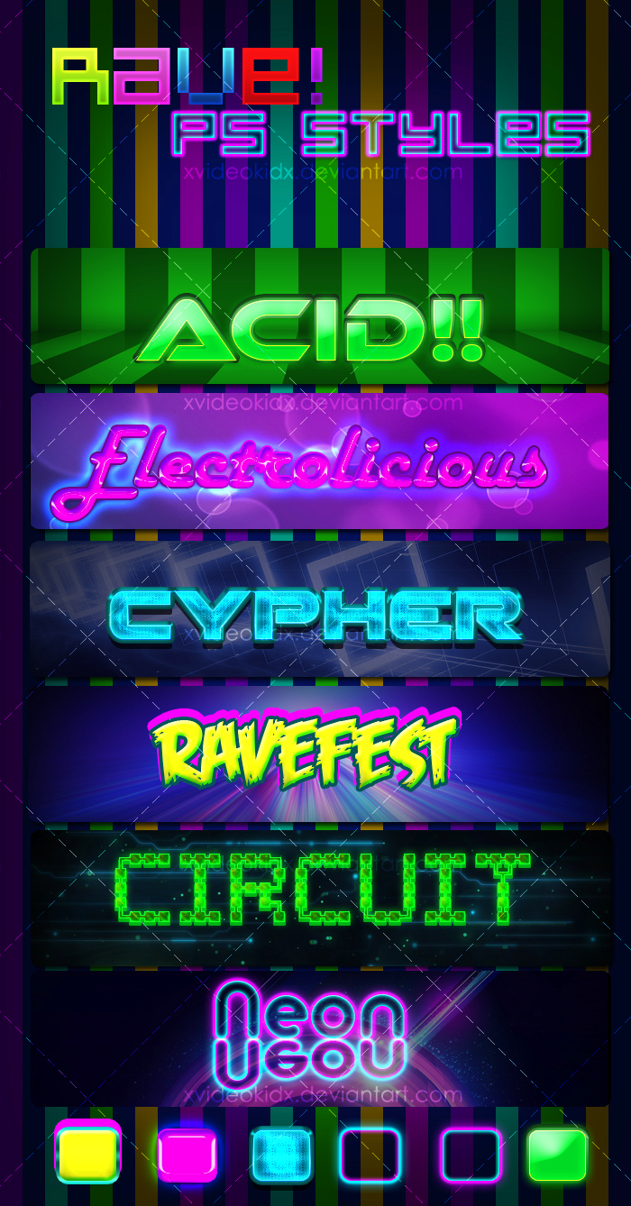 RAVE! PS Styles by XvideokidX
