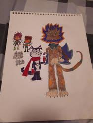 Digimon Accel Strike Key Characters (Monster side)