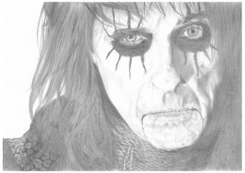 Alice Cooper A3 Portrait by Carl-Seager