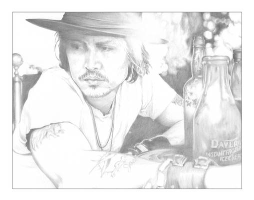 Johnny Depp A4 Sketch
