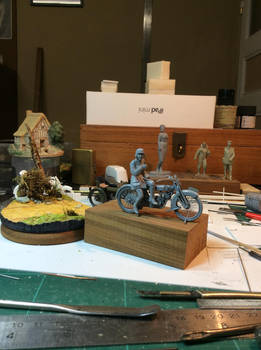 32nd Scale Master for commercial WWI bike/sidecar