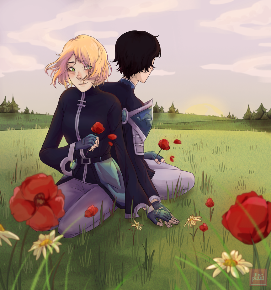 field flowers by Lilac-Patal