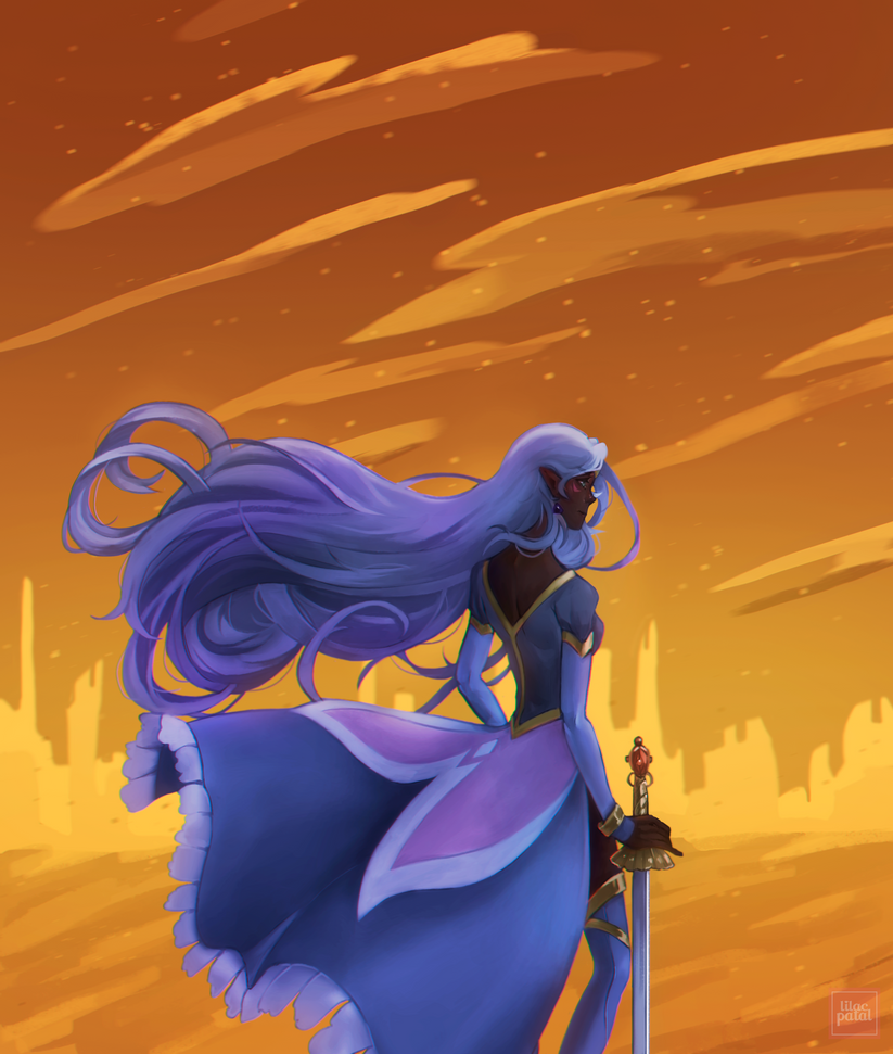 voltron allura contrast by Lilac-Patal