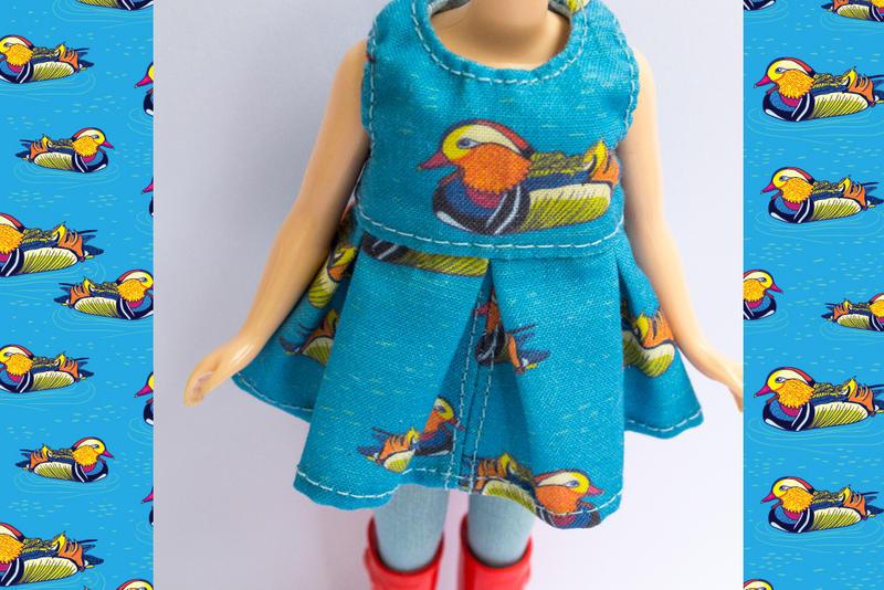 Mandarin Duck Blythe Dress by Apolinarias