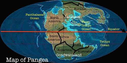 Map of Pangea by TheReturnOfGodzilla