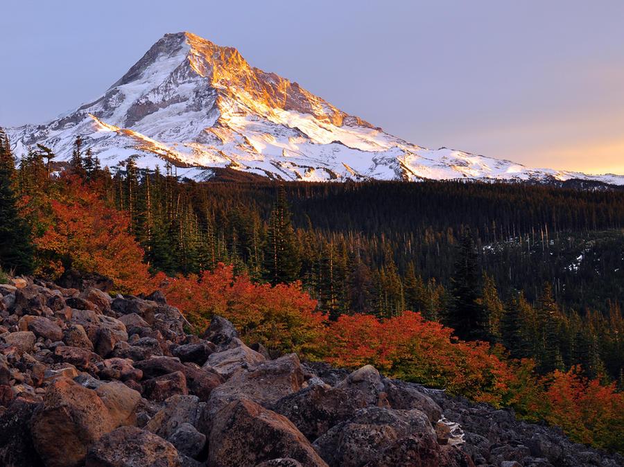 Mount Hood Autumn Sunset