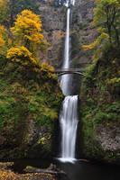 Multnomah Falls, Autumn Study by greglief