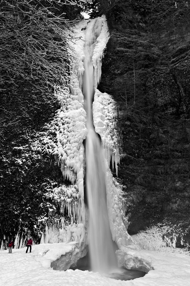 Horsetail Falls, Winter Study by greglief