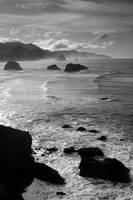 Cannon Beach Sea Stacks by greglief