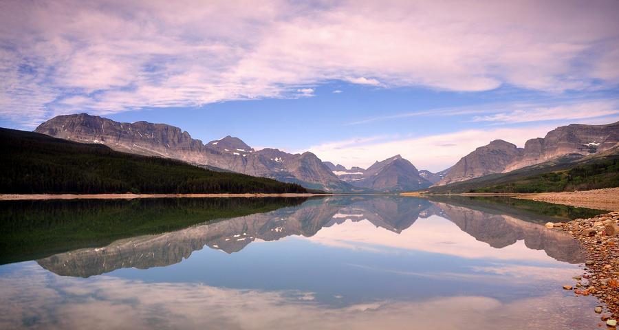 Lake Sherburne reflection