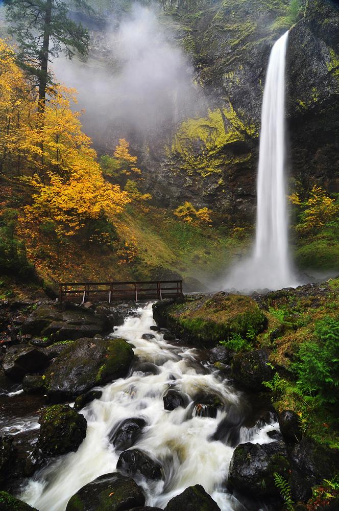 Elowah Falls, Autumn 2012 by greglief