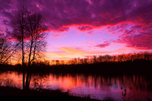 Willamette River Sunset No. 1 by greglief