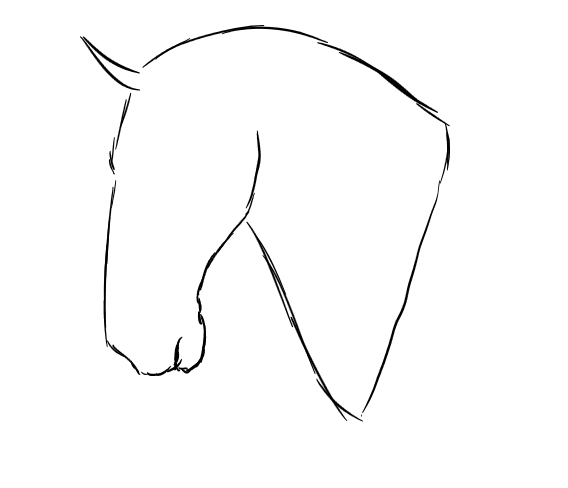 image regarding Horse Template Printable known as template horse -