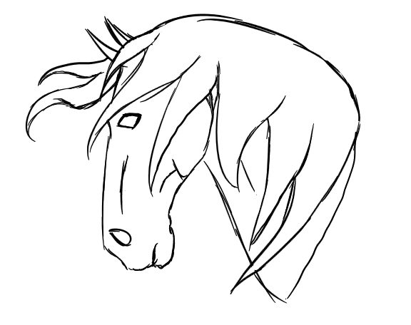 Line Drawing Head : Horse head lines by willowsongstudios on deviantart