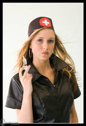 Nurse in black - Stephanie 02 by eyereflection