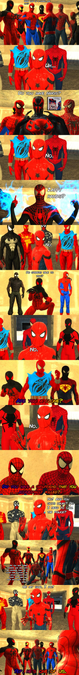 MCU Spiderman meets other Spidermen by ErichGrooms3