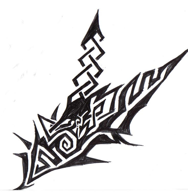 Celtic Tribal Tattoo by Dreamthief2004